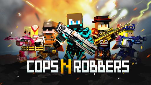 Cops N Robbers – 3D Pixel Craft Gun Shooting Games Apk Mod 1